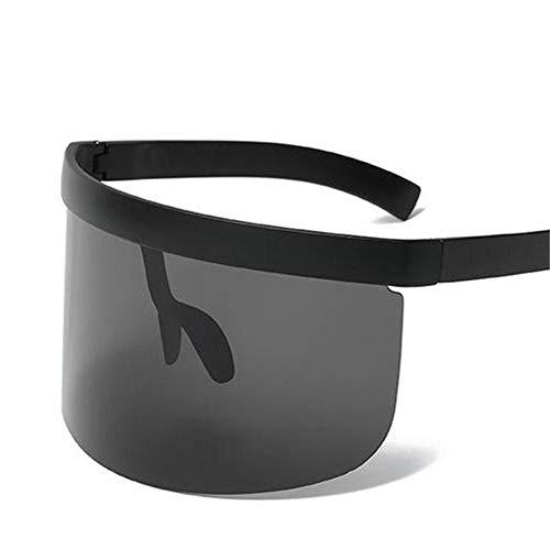 ANSKT Reitbrille, Einteilige personalisierte Anti-Peeping-Masken-Sonnenbrille, Trendige Big Box Hat-Sonnenbrille @ 1
