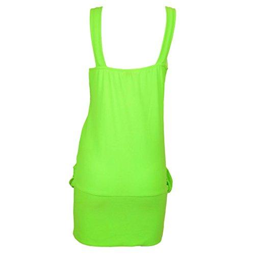 Da donna Sexy Mini pezzi affrontare per feste Dettagli vestito da donna Club vestito Top 8-20 Verde