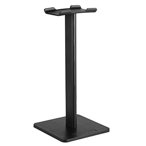 Supporto per cuffie, doodeen universale in alluminio supporto per cuffie auricolari Showing Display Stand Appendiabiti per tutte le cuffie dimensioni Black