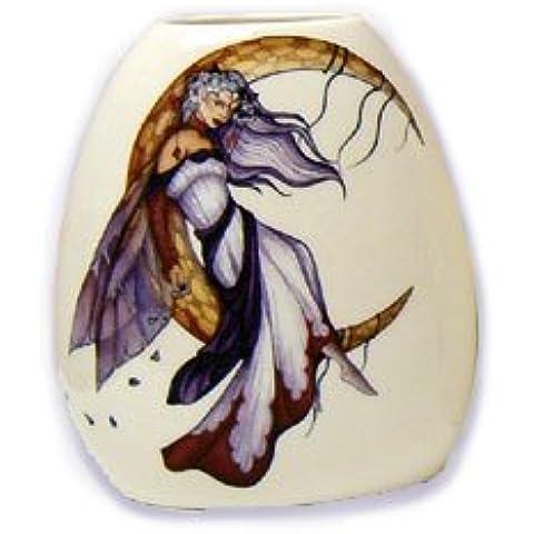 Jessica Galbreth Hada Luna Dreaming–Jarrón de porcelana (pequeña ead384