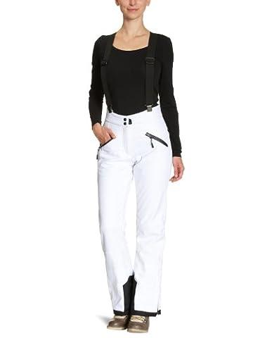 Killtec Damen Soft Shell Hose mit Abnehmbaren Träger und Kantenschutz Sady, Weiß, 38, 14320-000