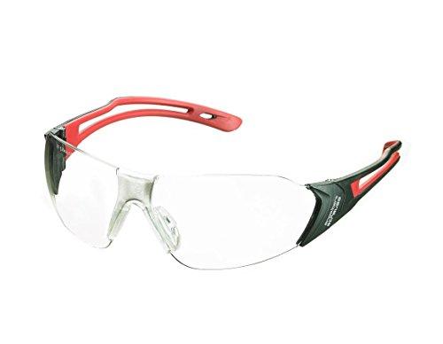 Engelbert Strauss Schutzbrille e.s. Abell, Grße:one size, Farbe:rot/schwarz