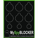 myspyblocker Webcam für Online, Sichtschutz abnehmbar & wiederverwendbar auch Blocks lästiges Licht von LEDs (Privacy Screen Cover-monitor)