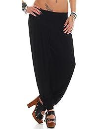 Yogapants in verschiedenen Farben Palazzohose Haremshose - S bis 4XL (32 34 36 38 40 42 44 46) Aladinhose Pumphose Yogahose Hose Yoga Baggy