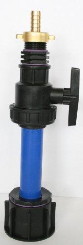 Ame90r_9482 97 le tube d'écoulement avec tube en plastique 100 mm dN32 kunststoffkugelhahn aG 1, raccord double en laiton avec bec, schlauchaufsatz-conteneur iBC-adaptateur-montage-bidon