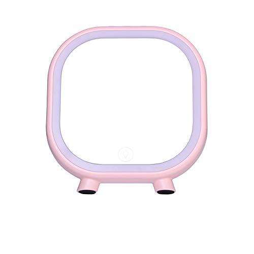 Miroir de maquillage XIAHE Creative LED Bluetooth Audio Beauté Beauté Miroir Maison Chambre Dressing Lumière Miroir Son Miroir Pliant Multifonctionnel (Couleur : Pink)