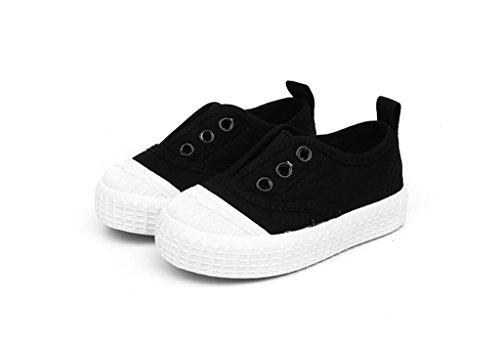 ALUK- Baby Schuhe - Kinder Leinwand Schuhe Lernen Lazy Schuhe Casual Schuhe ( Farbe : Rot , gr枚脽e : 30 ) Schwarz