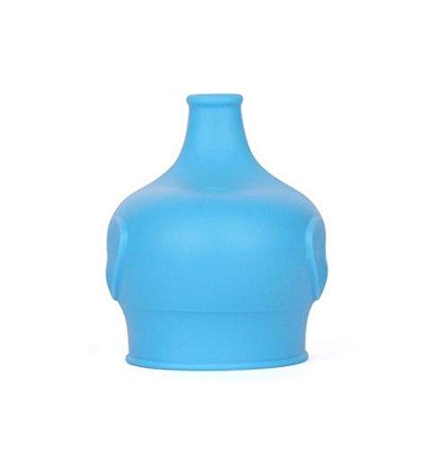 HCFKJ Sicherheit FüR Kinder Silikon Sippy Deckel Machen Sie Die Meisten Tassen Eine Sippy Cup Leak Proof (BLAU)