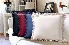 Scala Bedding 600 Thread Count Navy blue Solid Edge Ruffle Pillow Shams Set of 2 Piece 100% Egyptian Cotton Solid King Size (Navy King-size-pillow Shams)