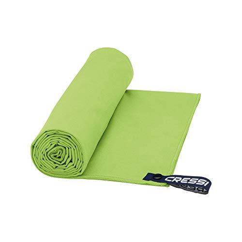 Cressi Schnelltrockentuch, Mikrofaser Unisex-Sporthandtuch für Erwachsene, grün, 50 x 100 cm