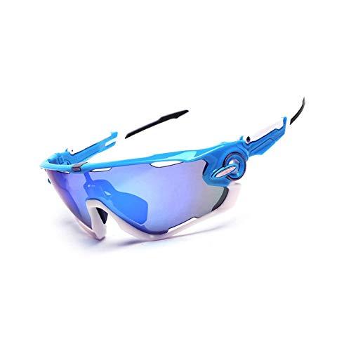 Beydodo Herren Damen Schutzbrille Beschlagfrei Blau Weiß Brille Winddicht Unisex Sonnenbrille Schutzbrille zum Schießen