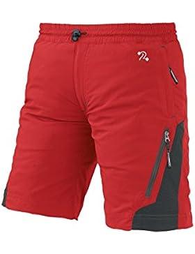 TRANGO Trangoworld Odiel Fi Pantalones Cortos, Unisex niños, Rojo (Formula Uno/Asfalto), 10/M