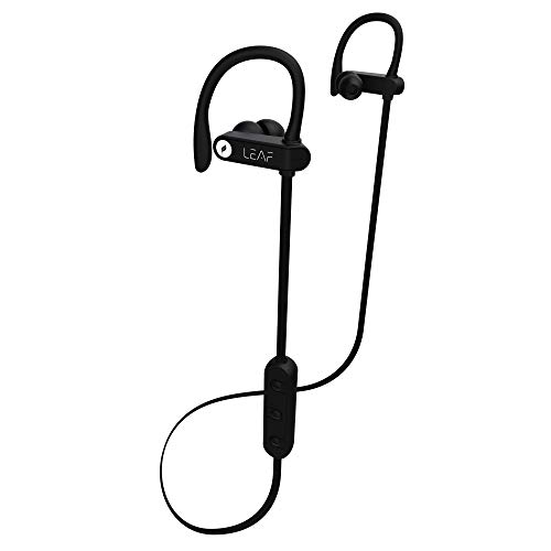 Leaf Sonic Wireless Bluetooth Earphones with mic (Carbon Black) Disruptive Innovations at amazon