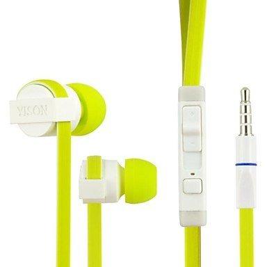 Yison ® Thomson TH-BK1 / Thomson Teo 10 / Thomson Neo 10 Tablette PC 10.1 Pouce Vert Isolement de Bruit Écouteurs Intra Auriculaires (CX390) avec Construit en Microphone et Télécommande