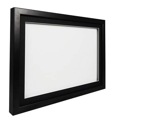hadow Display Bilderrahmen A242x 59,4cm-Schwarz Rahmen, schwarzes Passepartout, Weiß Rückwand ()