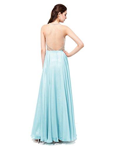 Dresstells Robe de cérémonie emperlée forme princesse longueur ras du sol Rose