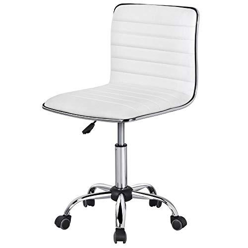 Yaheetech Bürostuhl, höhenverstellbarer Drehstuhl, Schreibtischstuhl 360° Frei Drehbar, Chefsessel mit Laufrollen