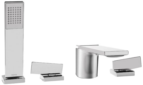 Tub Filler-handshower (Toto TB624S1#CP Legato Deck-Mount Tub Filler Trim with Handshower, Polished Chrome by Toto)