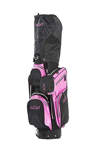 JuCad Bag Junior I Kinderbag I Golfbag I Schirmhalterung I 8-fache Schlägereinteilung I Farbe schwarz-weiß-pink