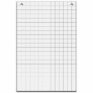 Maul Flipchart-Papier, Kariert, Perforiert, 67,5 x 98 cm, Weiß, 5 Block