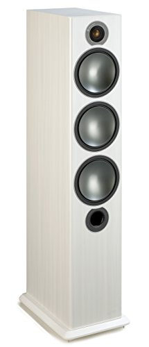 Dome Mid-range (Monitor Audio Bronze 6 Standlautsprecher, Farbe: White Ash, 1 Paar)