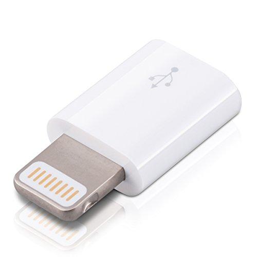 kwmobile adattatore con porta USB per cavo Lightning di ricarica e sincronizzazione per Apple iPhone 5 5S 5C 6 6S 6 Plus 6S Plus iPad iPod