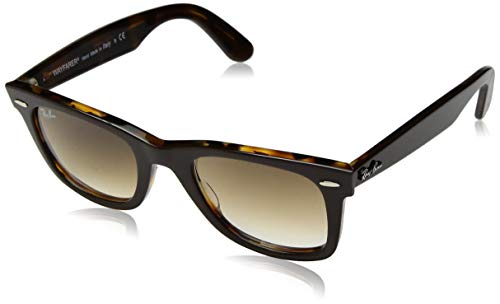 Ray-Ban Unisex-Erwachsene 0RB2140 Sonnenbrille, Schwarz (Top Brown On Yellow Havana), 50