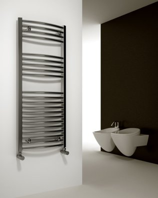 Reina Chrome Straight Towel Rail Radiator - 1600x300mm
