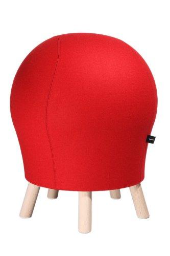 Topstar Hocker Sitness 5 Alpine rot in edler Filzoptik - Stuhl mit Sitzball-Effekt