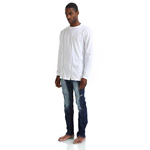 ... Pizoff Unisex Hip Hop Basic Langärmliges Langes Jersey Sweat T-Shirt  Rund Saum P3117- ...