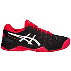 Asics Tennisschuh Gel-Challenger 11 Clay, Zapatillas de Tenis para Hombre, Negro (Black/Silver 001), 42.5 EU