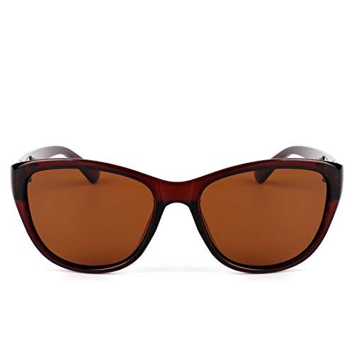 LBY Mode Polarisierte Sonnenbrille Klassische Retro Cat Eye Sonnenbrille Sonnenbrille für Damen (Farbe : Tea Frame/Tea Lens)