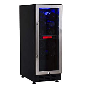 SIA BWC300SS 30cm Stainless Steel Free Standing Under Counter LED Wine Cooler