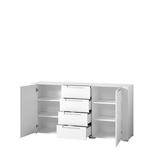 Paul DOWWA61020 Sideboard, Holz, weiß, 41 x 170 x 87 cm - 2
