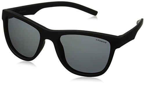 Polaroid Unisex-Kinder PLD 8018/S Y2 YYV 47 Sonnenbrille, Schwarz (Black Rubber/Grey Pz),