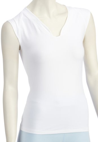 Venice Beach Damen Eleam Body Shirt Sport, White, XL - Weiß Training Top T-shirt
