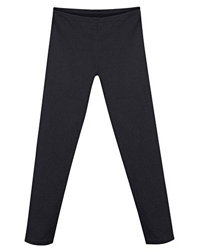Stretch-Leggings f¨¹r M?dchen aus Baumwolle K411_Black_XL (Hanes Baumwoll-leggings)