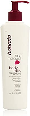 Babaria - Rosa Mosqueta Body Milk - Hidratante antiestrías para todo tipo de pieles - 400 ml