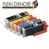 Pack 5 cartouche d'encre Haute Qualité PGI550 XL CLI551 XL / Noir et Couleur pour...