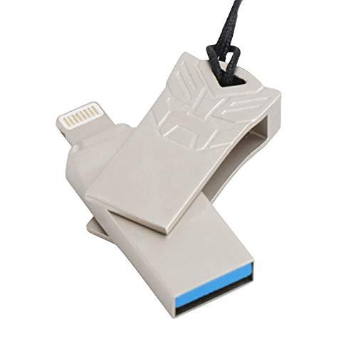 HJL 64 GB USB-Stick, DREI in einem Hochgeschwindigkeits-3.0-USB-Fingerabdruck-Identifikationsdatei, Diese U-Disk unterstützt IOS, Micro-USB, Android-Schnittstelle,8GB -