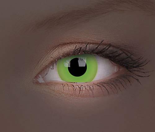 ColourVUE Glow Green Monatslinsen weich, 1 Stück / BC 8.6 mm / DIA 14.0 / 0 Dioptrien