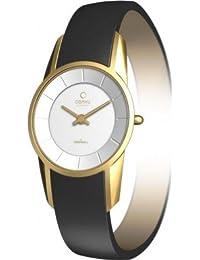 Obaku Harmony V130L GIRB - Reloj de mujer de cuarzo, correa de piel color negro