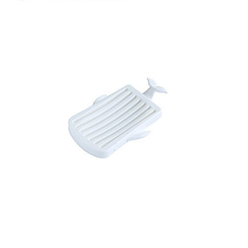 DDOQ Kreative Wal Form Kunststoff Abfluss Soap Box Seifenhalter Container Soap Tray Soap Dish-White (Soap-kunststoff-formen)