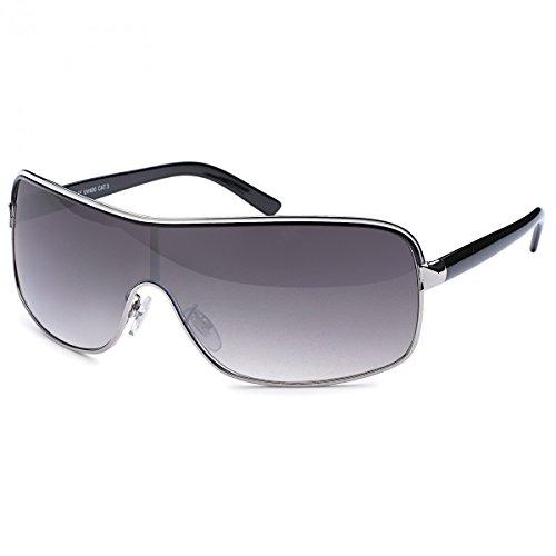 GIL-Design Damen Herren Sonnen Brille Brillen Sommer Fliegerbrille 20287 Schwarz