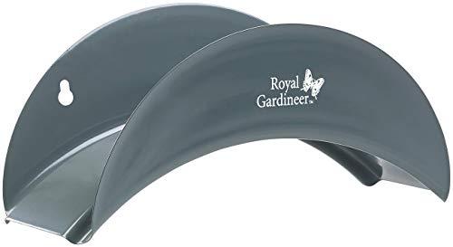 Royal Gardineer Schlauchhalter: Wandhalter für Gartenschläuche aus Stahl, gewölbt, 13 x 28 x 12 cm (Schlauchhalterung)