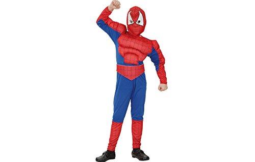 fyasa 706079-t01muskulöser Spider Hero Kostüm, Mittel (Batgirl Kostüm Set)