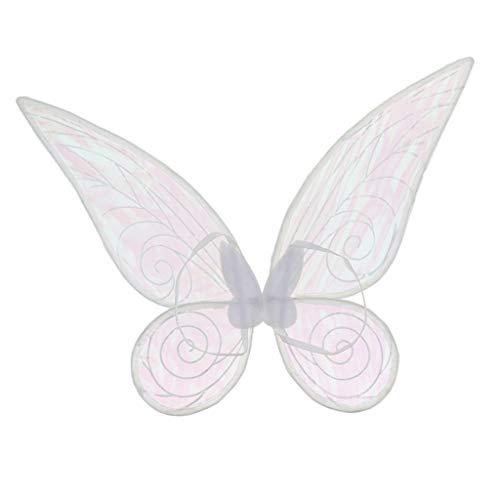 Blesiya Schmetterlingsflügel Feenflügel Farbwechsel Elfenflügel für Erwachsenen Cosplay Party Kostüm - Weiß, 46cm * ()