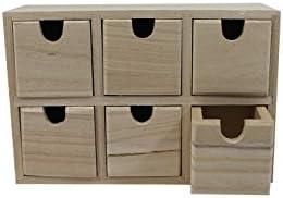 Caja de madera con 6 cajones