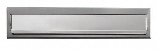 Arregui 1832d34-cassetta postale in acciaio inox, 73 x 248 mm