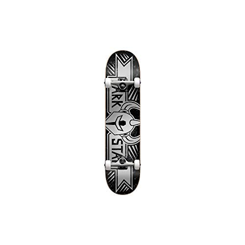 Darkstar Silber Grand Soft Wheels - 8 Inch Skateboard Komplett (One Size, Silber) -